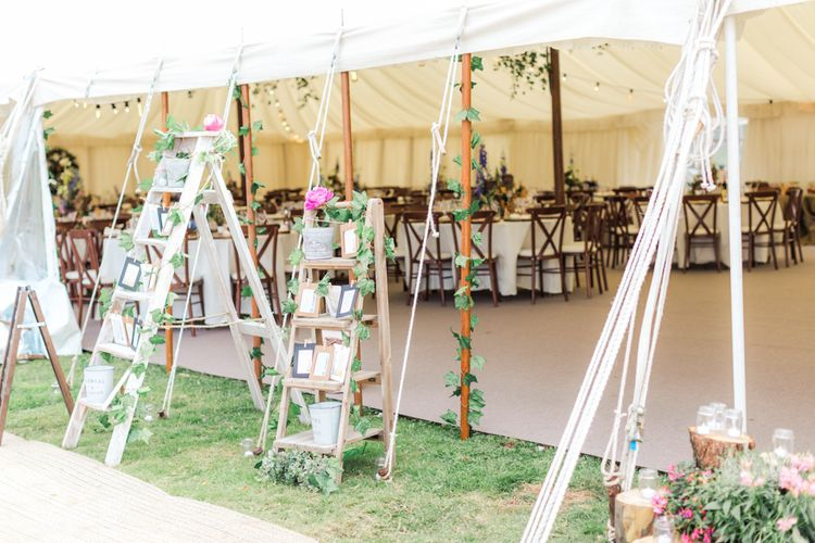 Marquee Decor | Woodland Fairy Tale | Backyard Wedding | Summer Lily Studio | Oleg Cassini at David's Bridal