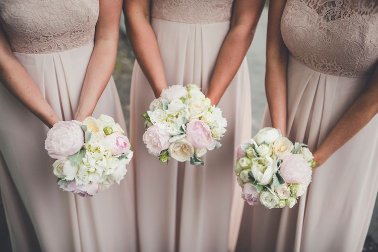Pink & White Rose, Hydrangea & Peony Bouquets