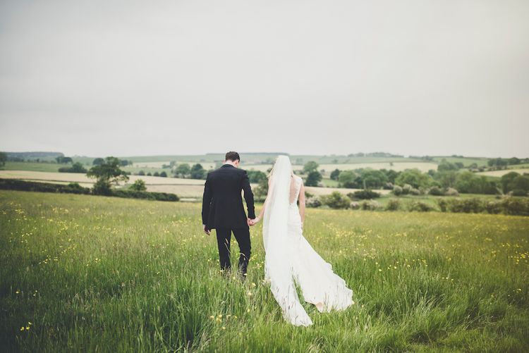 Bride in Lace Sottero and Midgley Quinlynn Wedding Dress