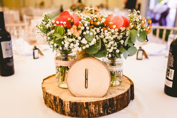 Log Slice Table Centrepieces
