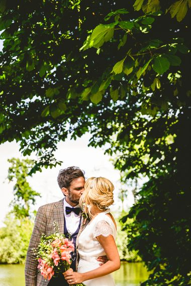Belle & Bunty Dress For A Meadow Wedding In A Clear Roof Marquee With Peony Bouquets & Images From Love That Smile Photography