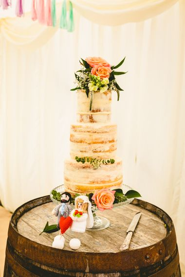 Naked Cake For Wedding