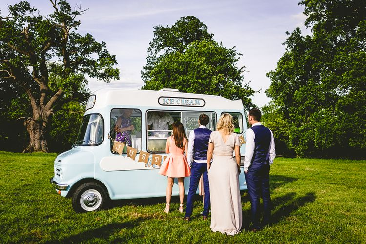 Ice Cream Van At Wedding