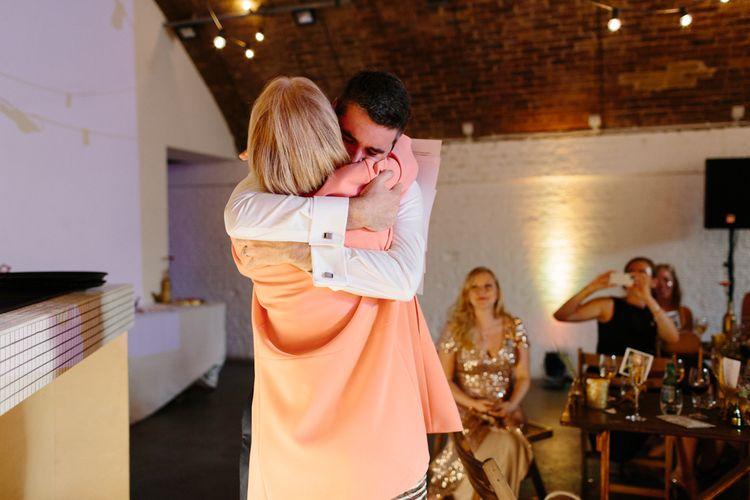 Hugs during Wedding Speeches