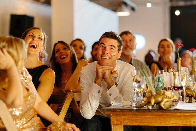 Groom During Wedding Speech