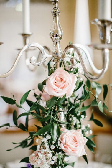 Candelabra Covered in Roses