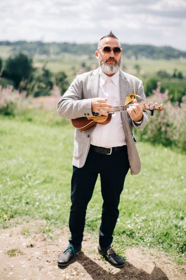 Musician at Wedding
