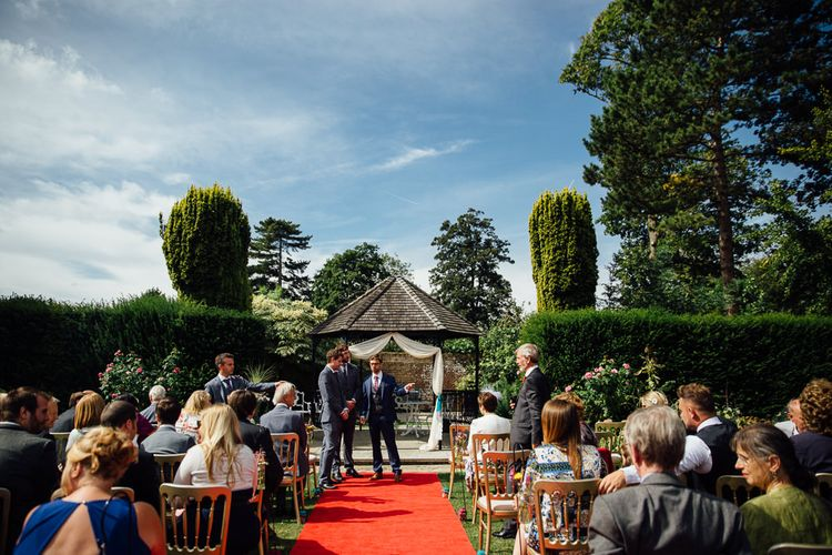 Outdoor Ceremony at Swarling Manor Kent