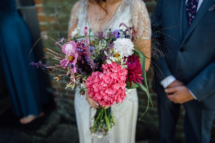 Bright Just Picked Wild Flower Bridal Bouquet