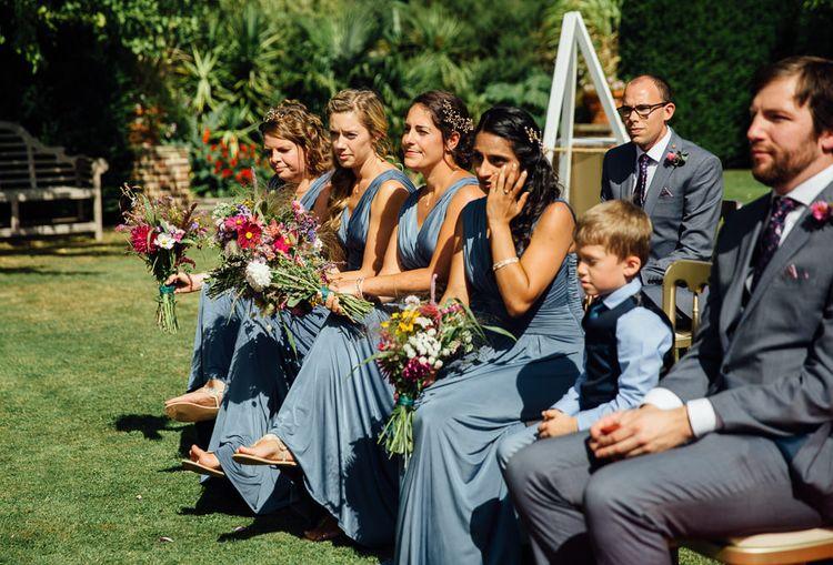 Bridesmaid in Blue Dresses