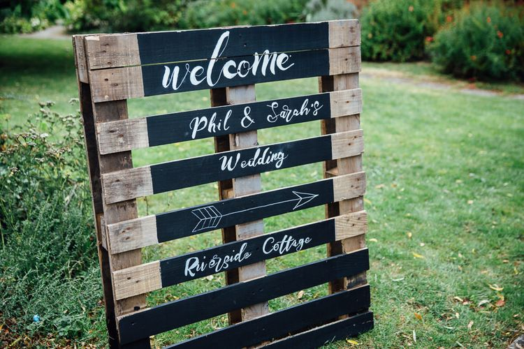 Wooden Palette Wedding Welcome Sign