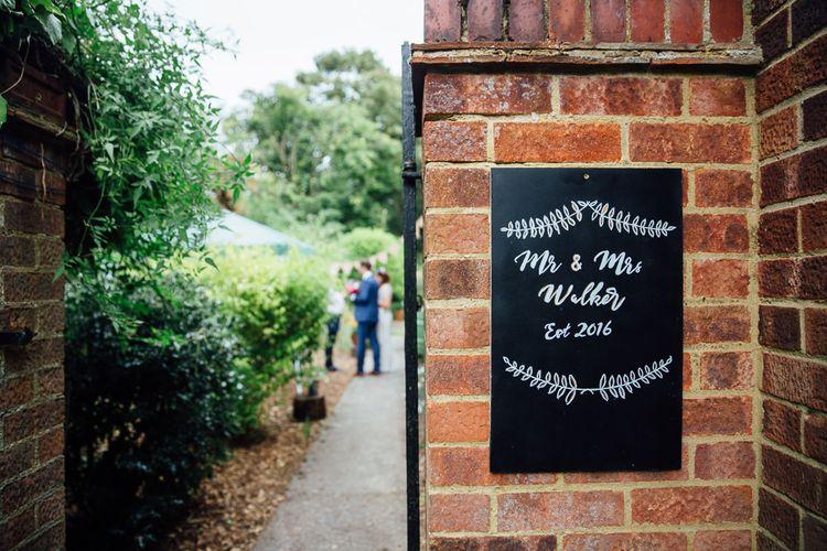 Blackboard Wedding Sign