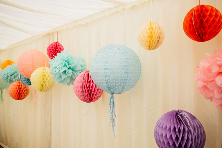 Pom Pom, Honeycomb Balls & Paper Lanterns Decor