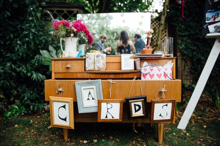 Antique Dresser Wedding Cards Display