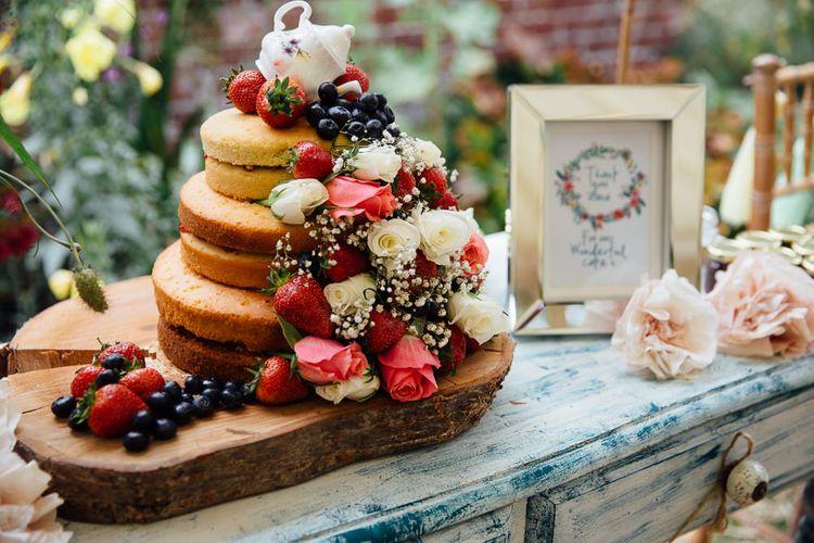 Homemade Sponge Wedding Cake