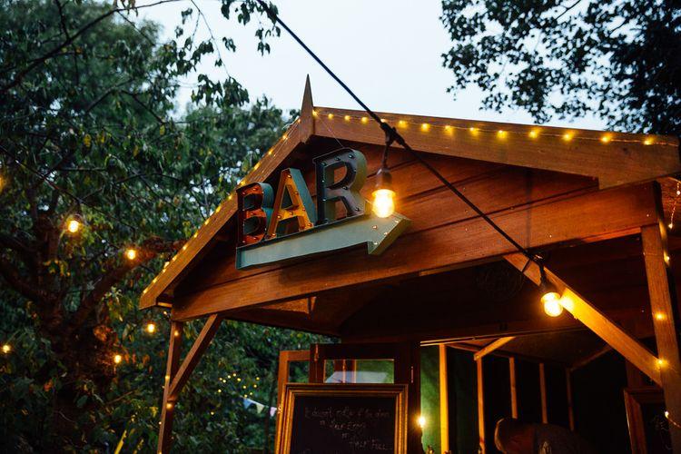 Back Garden Shed Bar Area