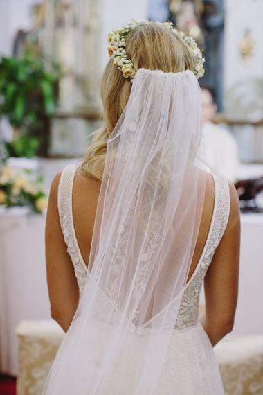 Church Ceremony | Bride in Flora Bridlal