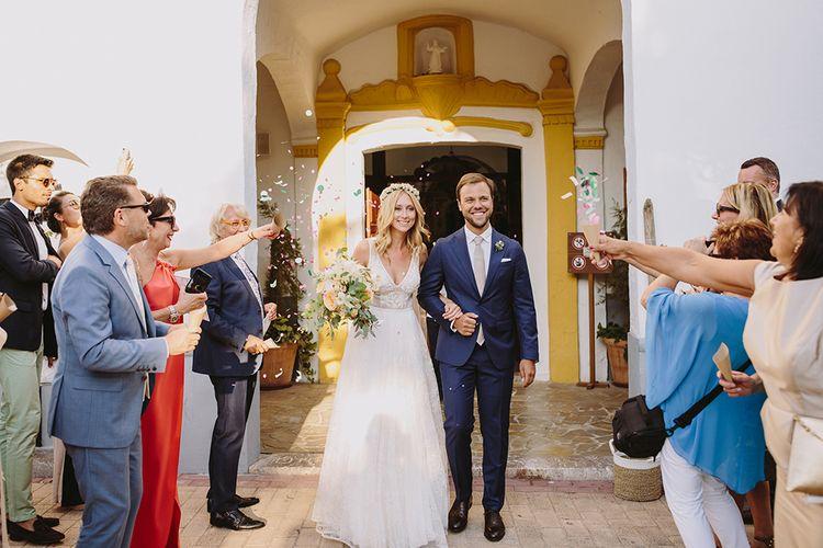 Church Ceremony | Bride in Flora Bridal Wedding Dress | Raquel Benito Photography