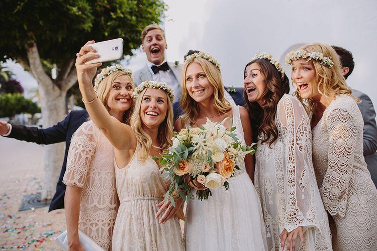 Bridesmaid Selfie | Raquel Benito Photography