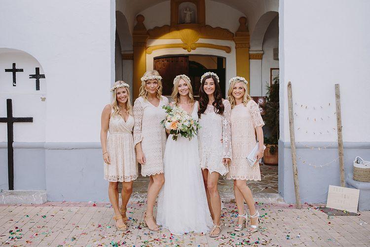 Bride & Bridesmaids | Wedding Party | Raquel Benito Photography