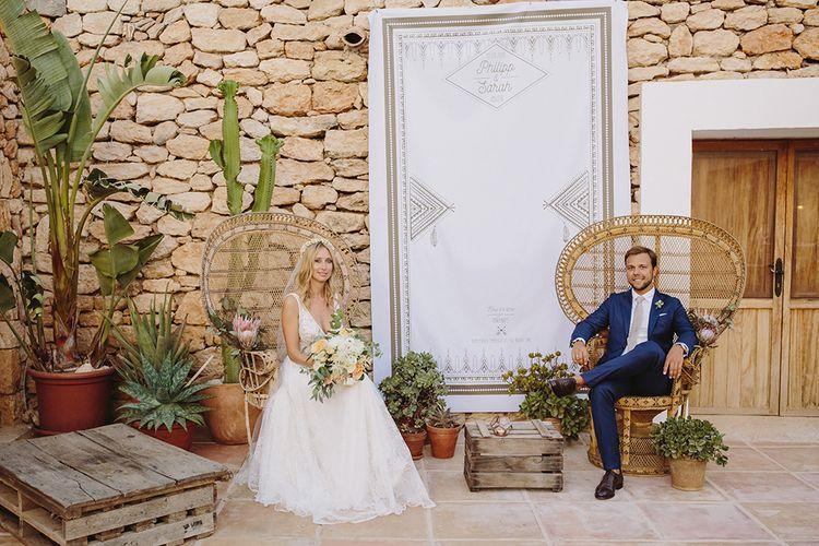 Couple Portrait | Bride in Flora Bridal Wedding Dress | Raquel Benito Photography