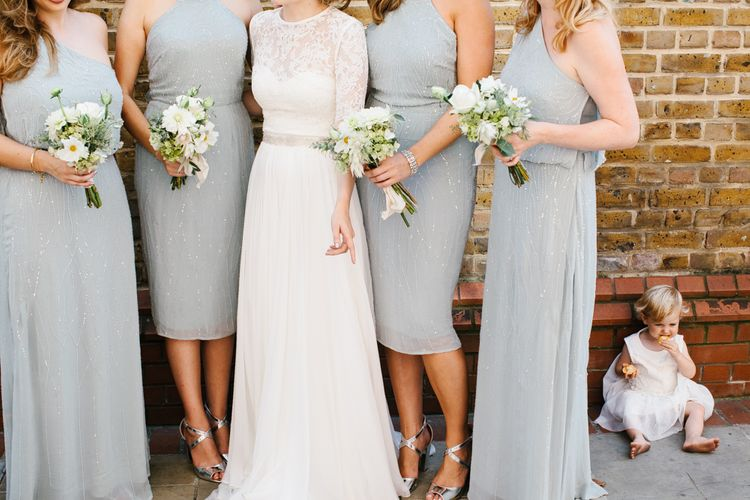 Bridesmaids in Mint Green Embellished ASOS Bridesmaid Dresses