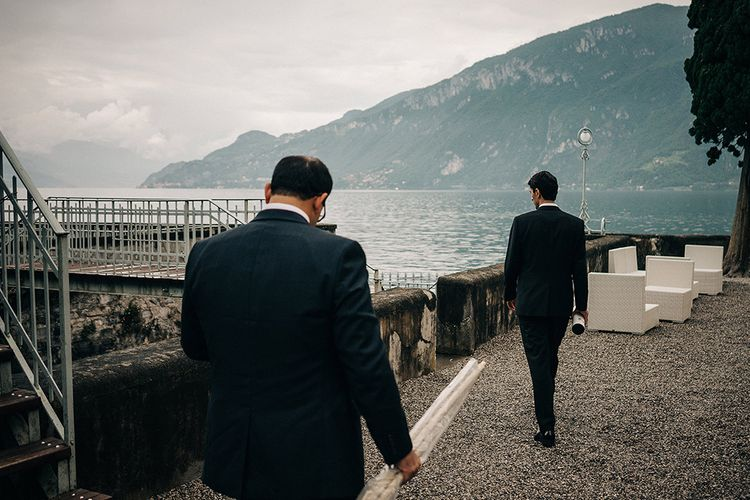 Groom in Hugo Boss Black Tuxedo Suit | Jason Mark Harris Photography | Harris Films