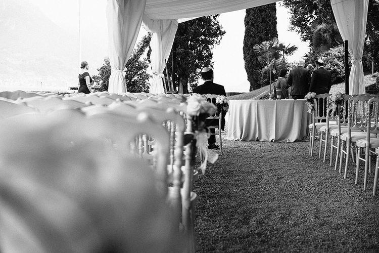 Outdoor Ceremony at Bellagio Lake Como | Jason Mark Harris Photography | Harris Films