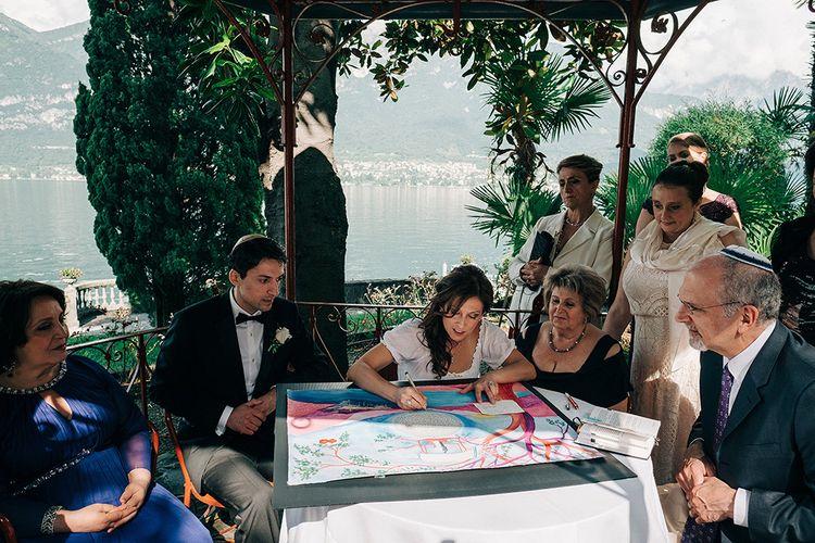 Traditional Jewish Outdoor Ceremony at Bellagio Lake Como | Jason Mark Harris Photography | Harris Films