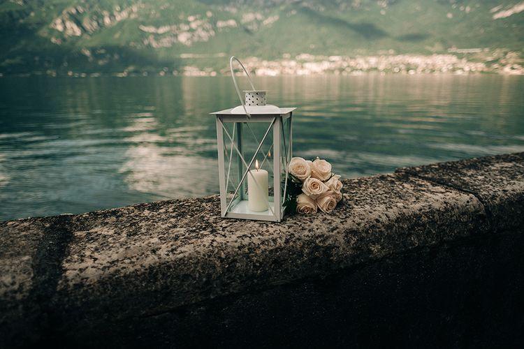 Lantern & Flower Decor by Lake Como | Jason Mark Harris Photography | Harris Films