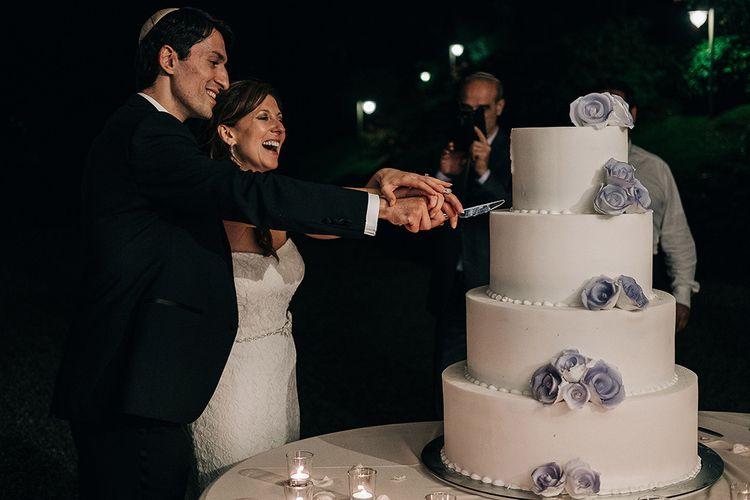 Cutting The Cake | Bride & Groom | Bellagio Lake Como Wedding Venue | Jason Mark Harris Photography | Harris Films
