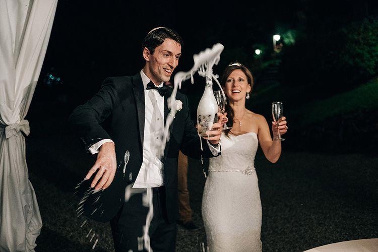Champagne Toast | Bride & Groom | Bellagio Lake Como Wedding Venue | Jason Mark Harris Photography | Harris Films