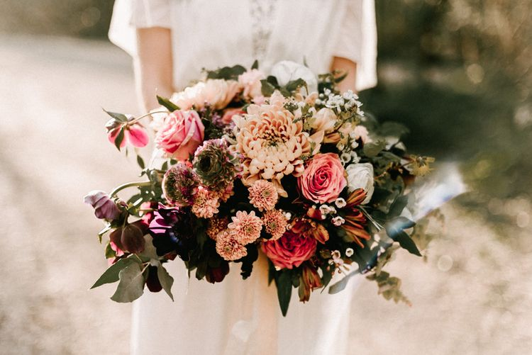 Oversized Bouquet With Roses & Dahlia