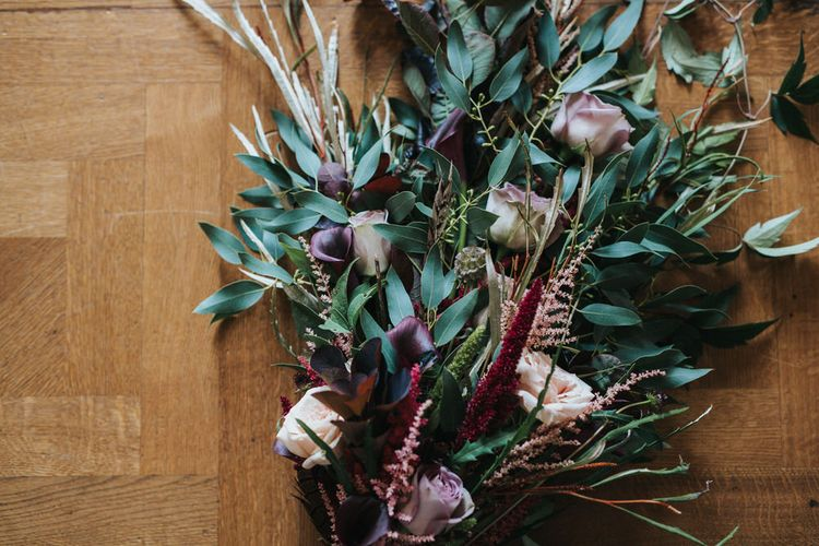 Wild Linear Wedding Bouquet