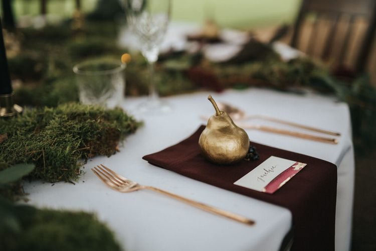 Golden Pear Place Setting