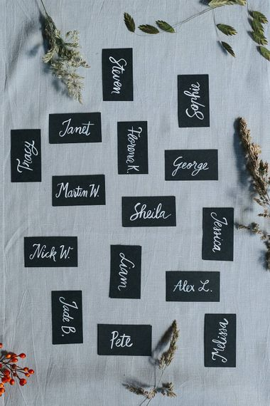 Charcoal Place Names For Wedding
