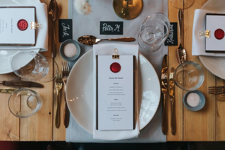 Elegant Place Setting For Relaxed City Wedding