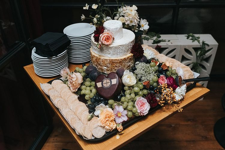 Stylish London Restaurant Wedding With Wild & Oversized Floral Arrangements By Aesme With Bride In Riki Dalal & Groom In Burgundy Suit By Paul Smith Planned & Styled By Knot & Pop With Images From Miss Gen
