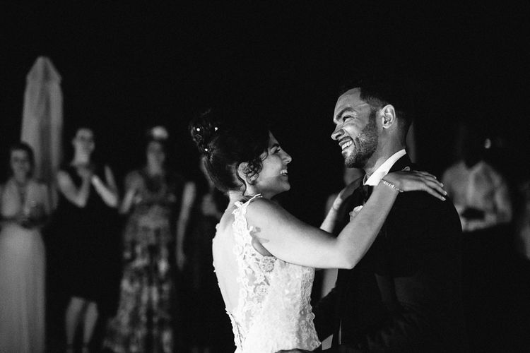 First Dance | Bride in Lace Martina Liana Essense Design Wedding Dress | Groom in Paul Smith Suit | Ibiza Destination Wedding | Helen Abraham Photography | Ibiza Wedding Films