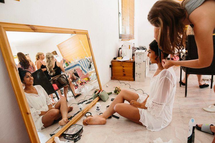 Bridal Preparations | Getting Ready | Ibiza Destination Wedding | Helen Abraham Photography | Ibiza Wedding Films