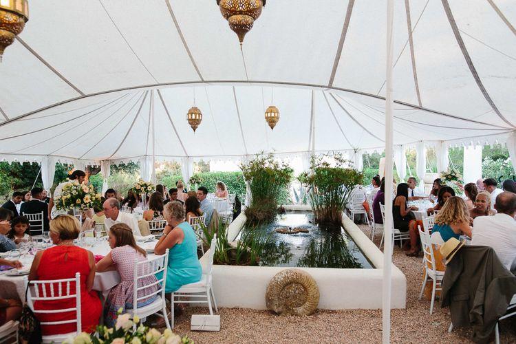 Outdoor Tent Reception | Ibiza Destination Wedding | Helen Abraham Photography | Ibiza Wedding Films
