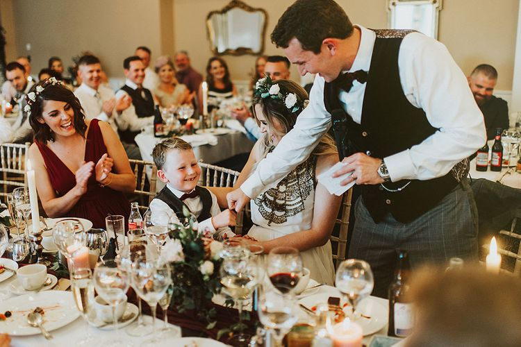 Amanda Wakeley Bride For A Stylish Autumnal Wedding Styled By Amber At Bellinter House With Images From Savo Wedding Photography