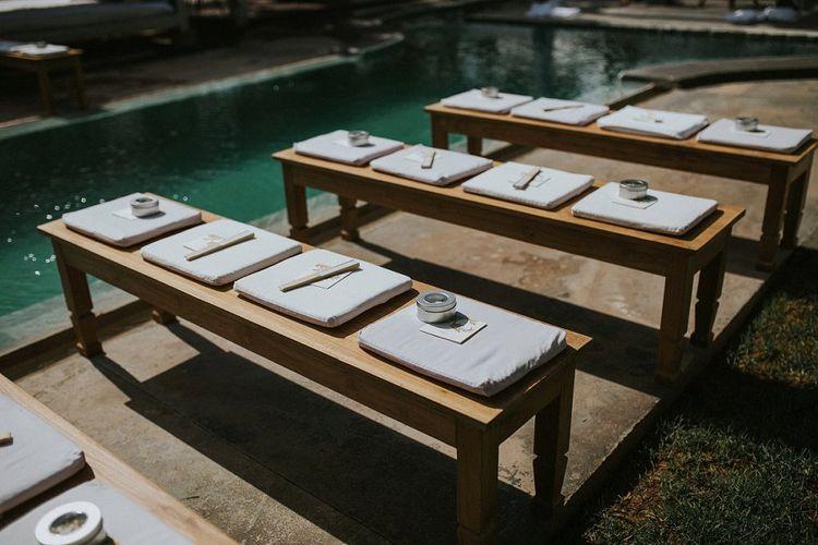 Outdoor Wedding Ceremony Benches