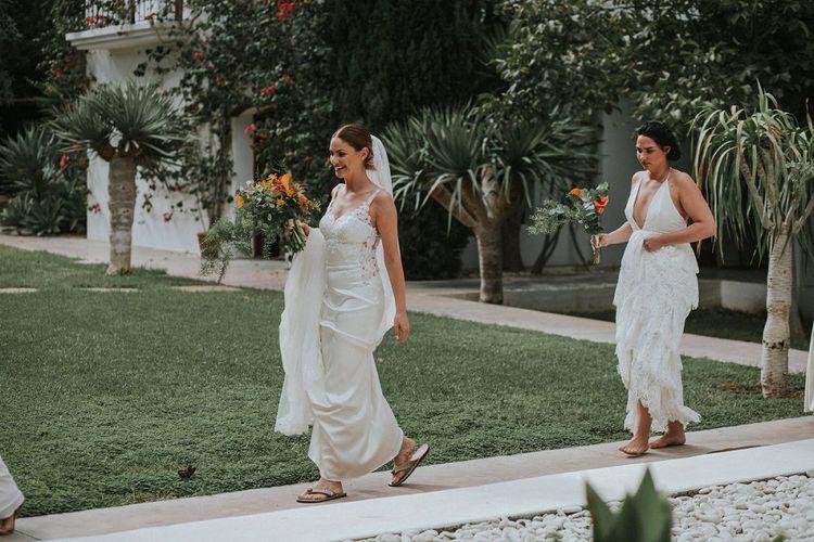 Bride in Watters Cora Gown
