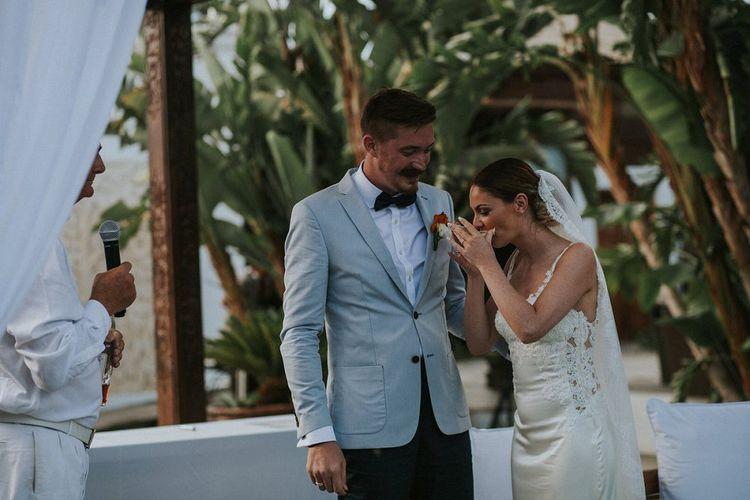 Bride & Groom Outdoor Wedding Ceremony