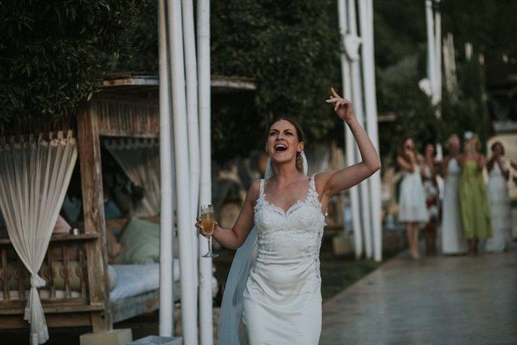 Bride in Watters Cora Wedding Dress