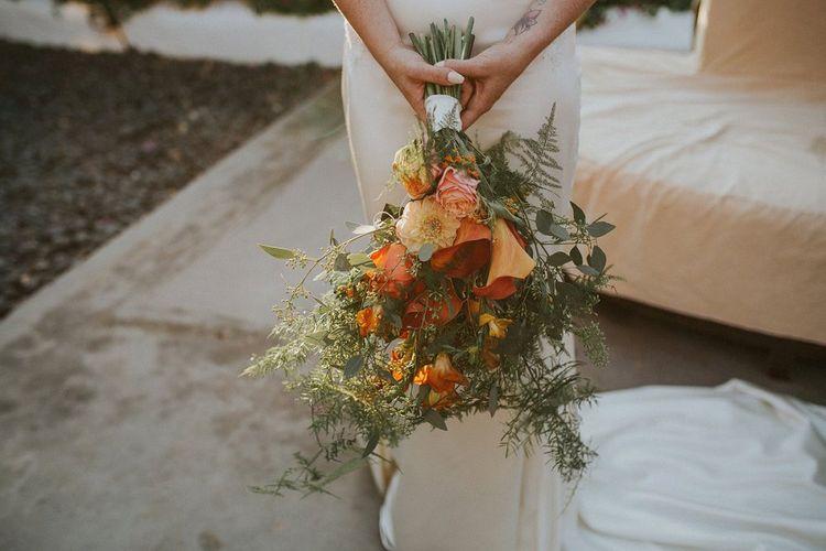 Orange Lily Bridal Bouquet