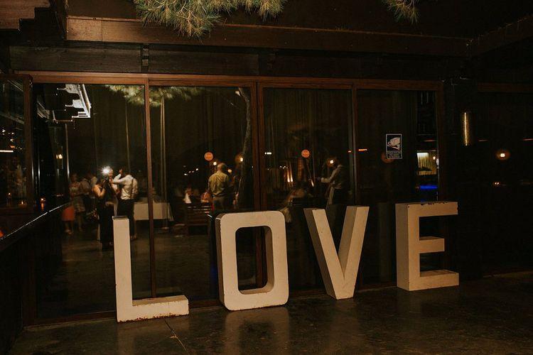 Giant LOVE Letters Wedding Decor