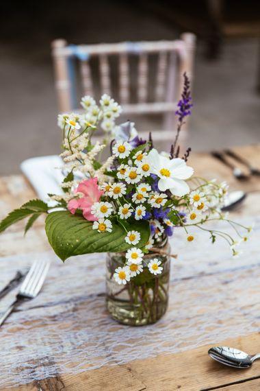 Wild Flower Table Centrepiece