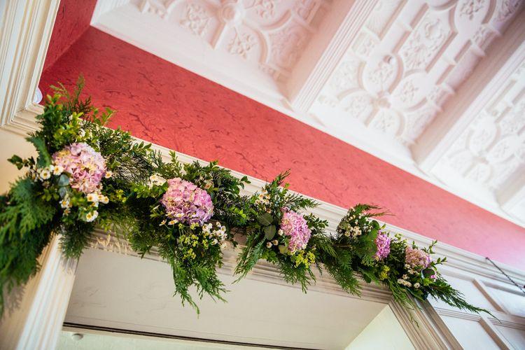 Floral Doorway Wedding Decor